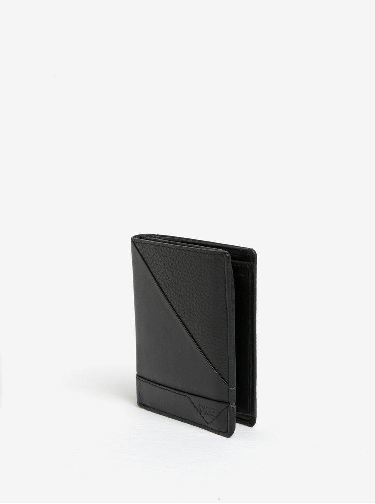 Černá kožená peněženka Dice Shirt