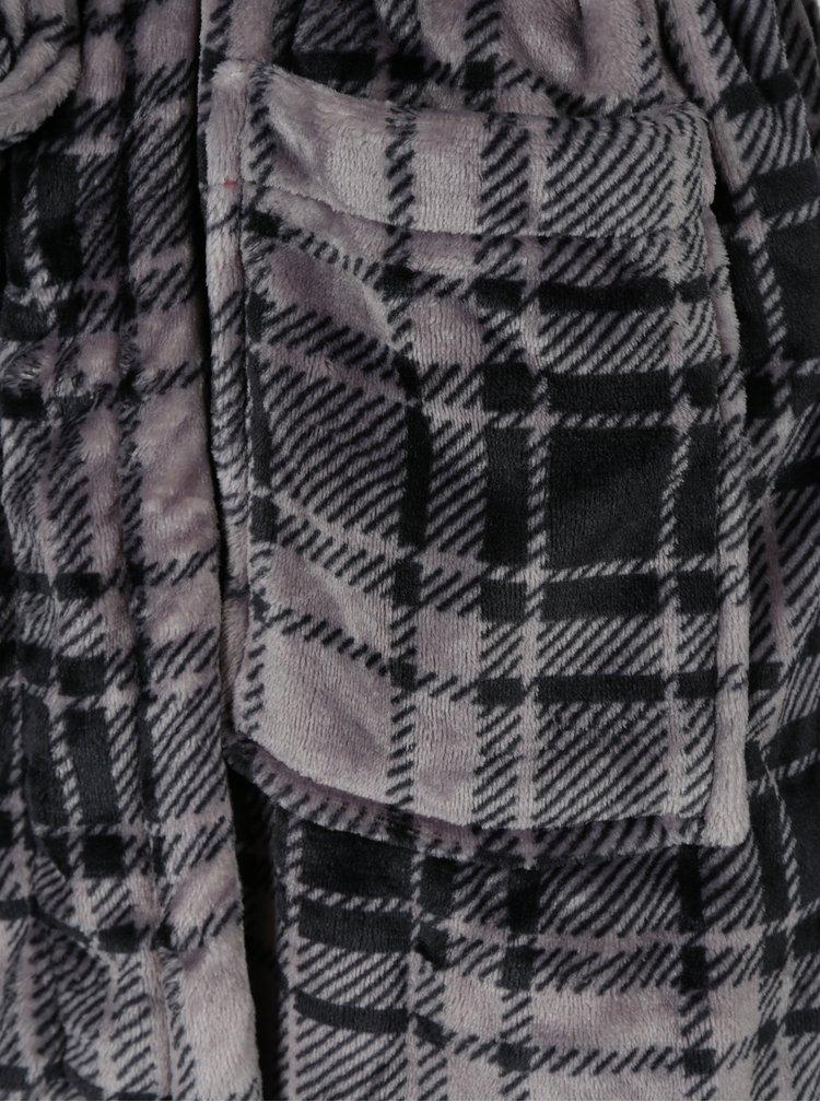 Halat de casa negru&gri in carouri pentru barbati Portland