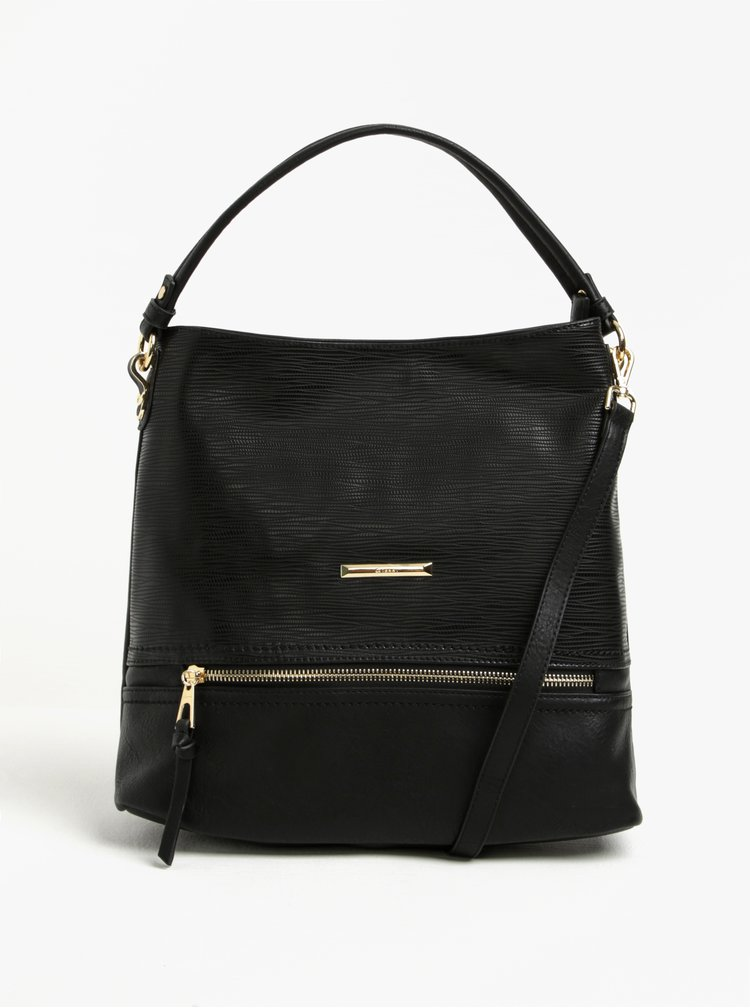 Černá kabelka s detaily ve zlaté barvě Gionni Pia