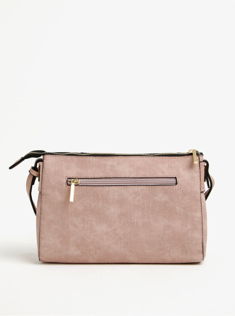 Geanta crossbody roz - prafuit cu detalii aurii - Gionni Loretta