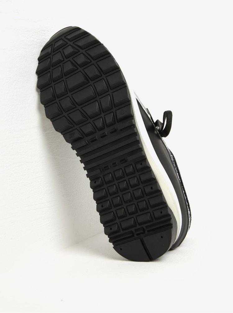 Černé tenisky na platformě KARL LAGERFELD Vivace