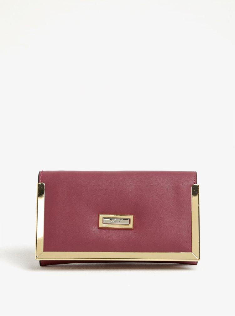 Růžová peněženka s detaily ve zlaté barvě Gionni Colette