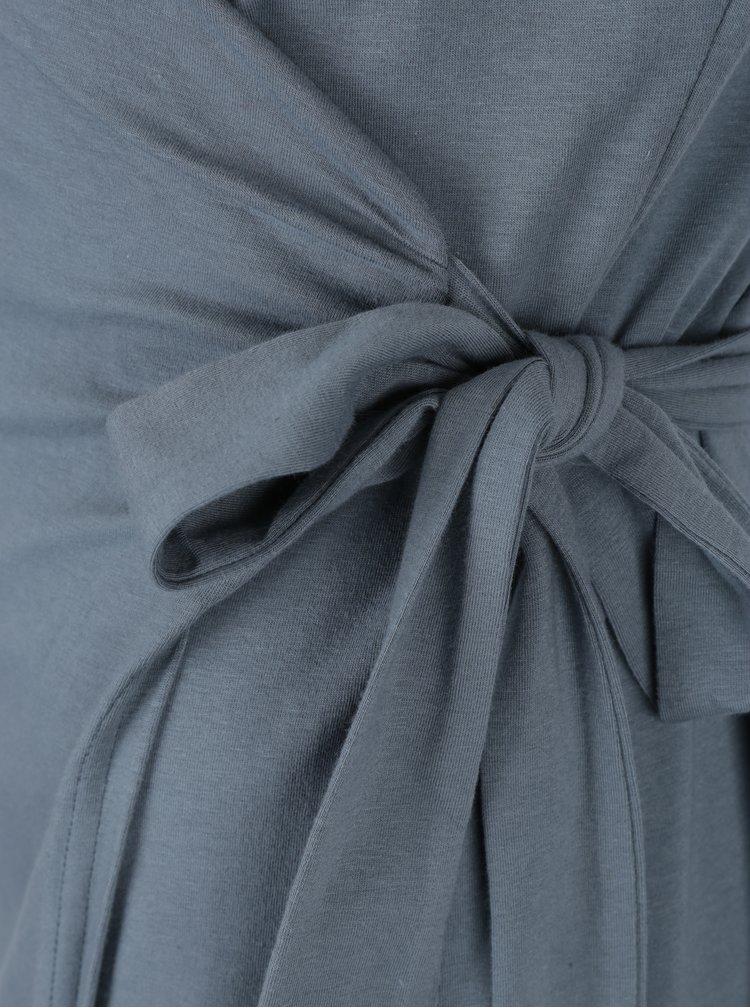 Šedomodré zavinovací šaty Skunkfunk  Nagore