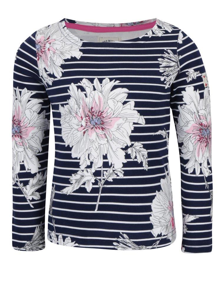 Krémovo-modré tričko s dlouhým rukávem Tom Joule