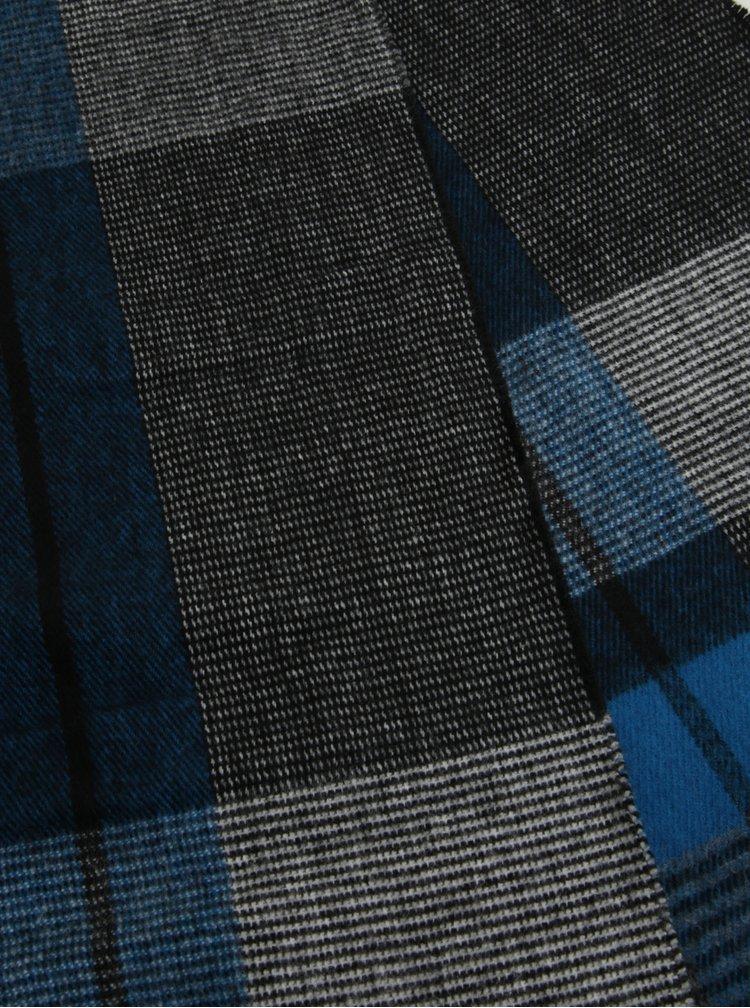 Pánský dárkový set černých kožených rukavic a šály Portland