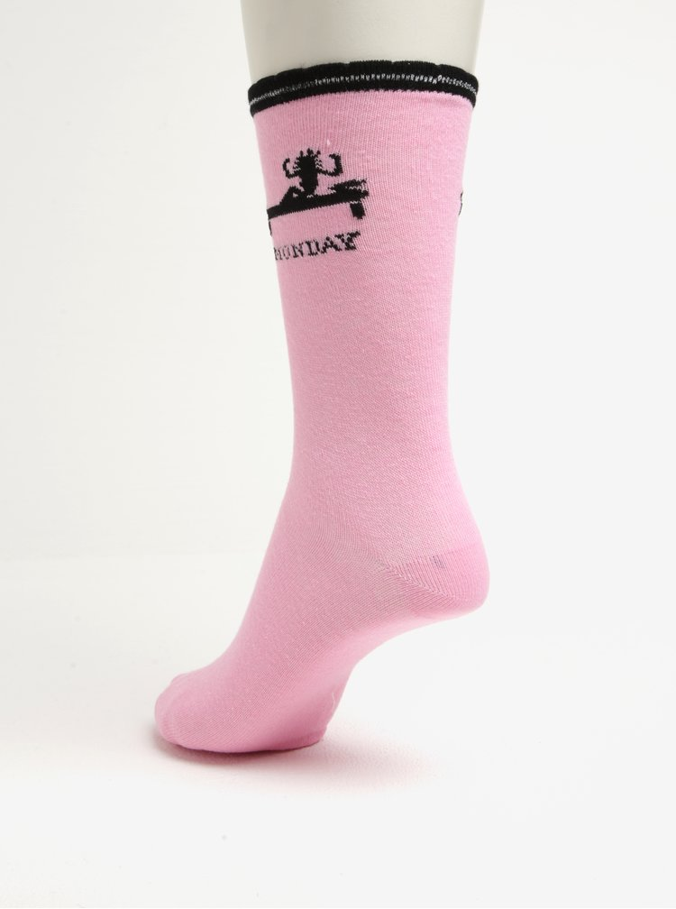 Fialovo-růžová dárková sada pěti párů dámských ponožek Something Special