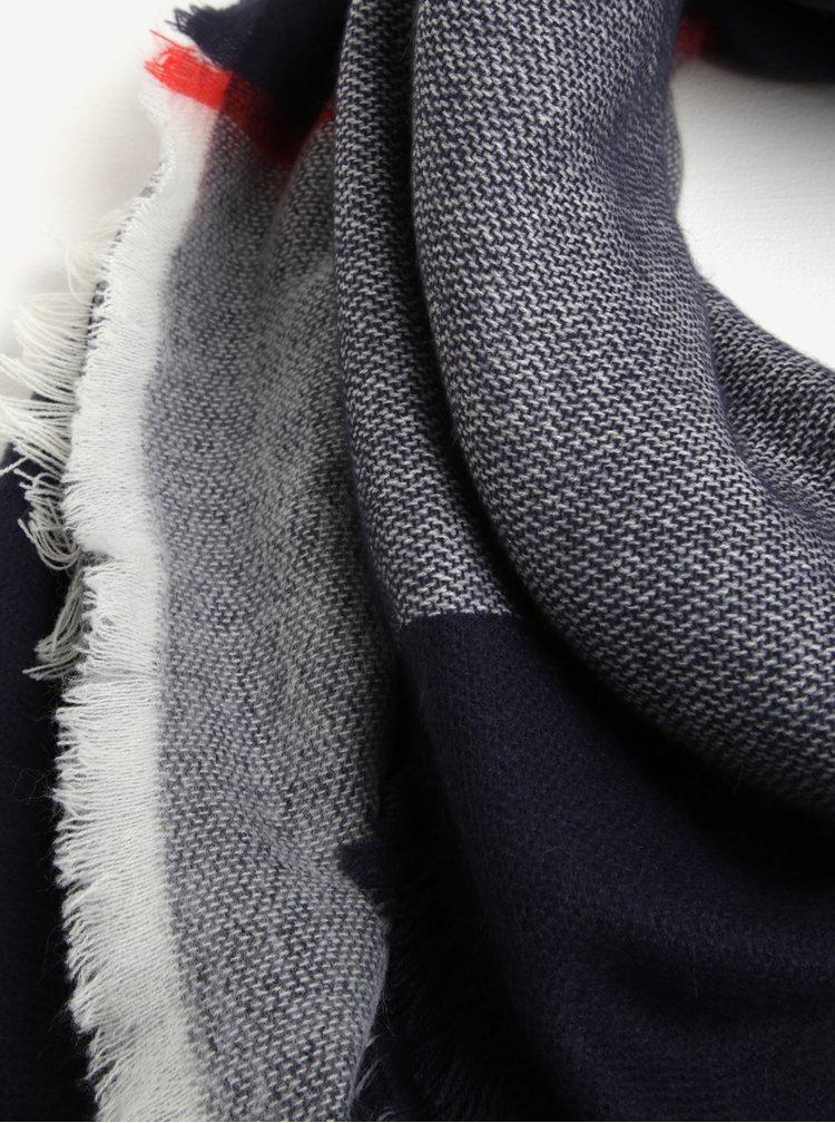 Krémovo-modrá kostkovaná šála Tom Joule
