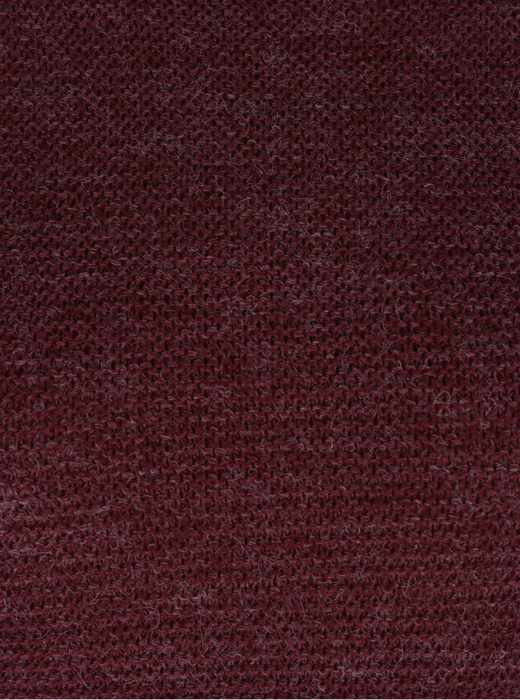 Vínový žíhaný svetr VERO MODA Zoe