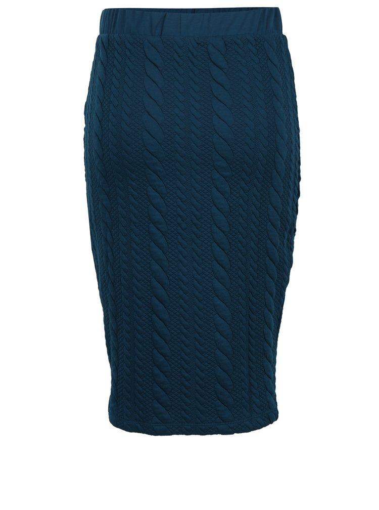 Petrolejová pouzdrová sukně Jacqueline de Yong Zadie