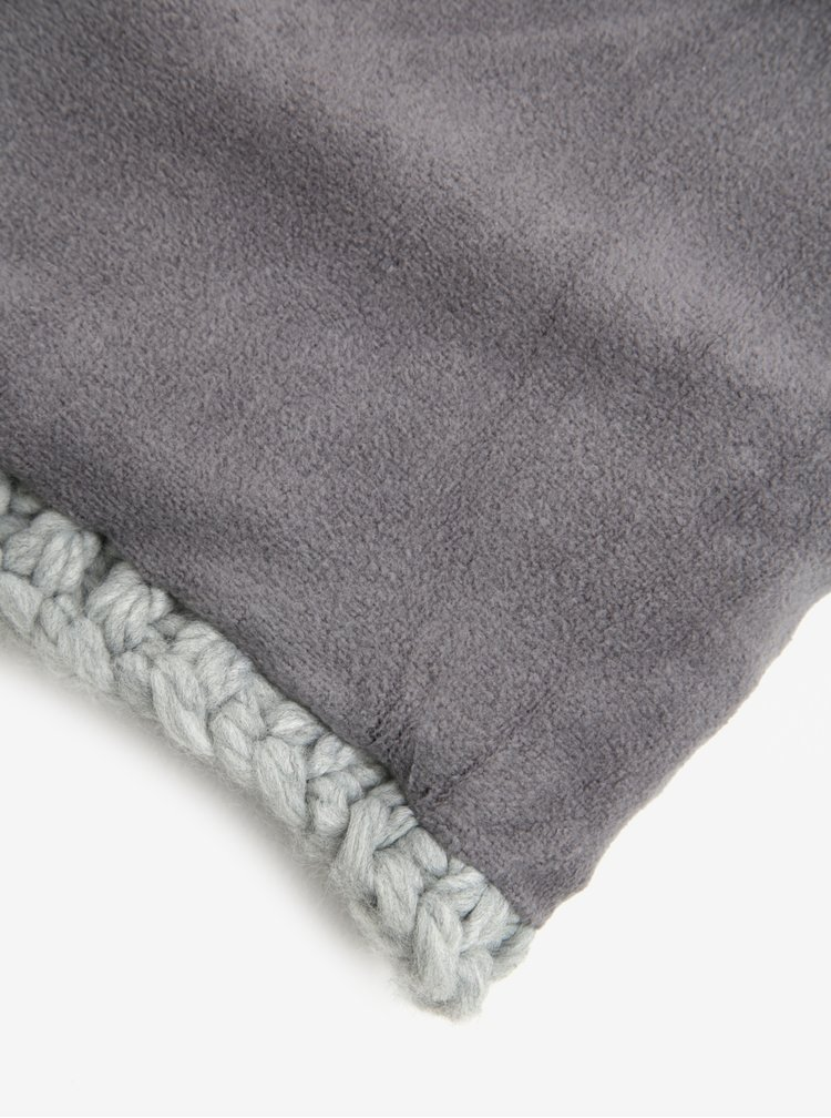 Guler tricotat gri deschis pentru femei Roxy Winter Collar