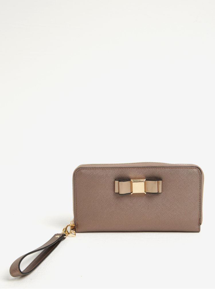 Set portofel bronz + baterie externa telefon pentru femei Something Special