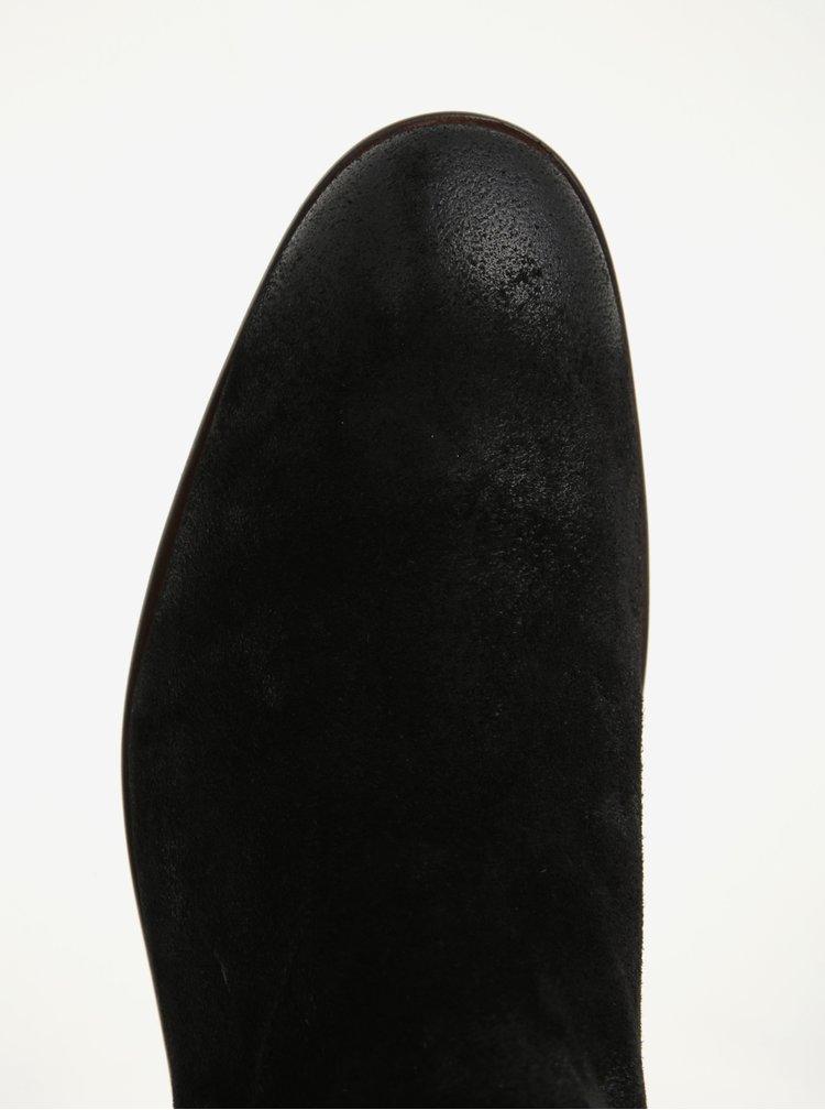 Ghete chelsea negre din piele naturala pentru barbati - s.Oliver