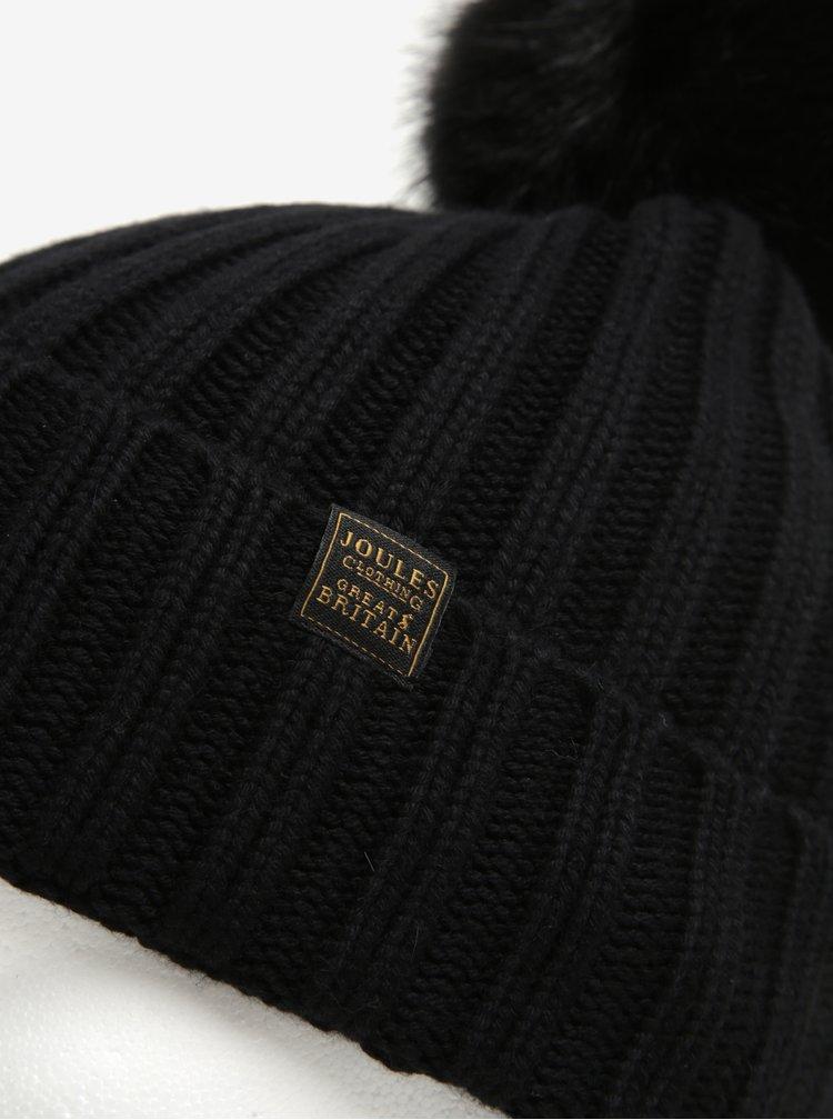 Caciula neagra de iarna cu ciucure pentru femei - Tom Joule