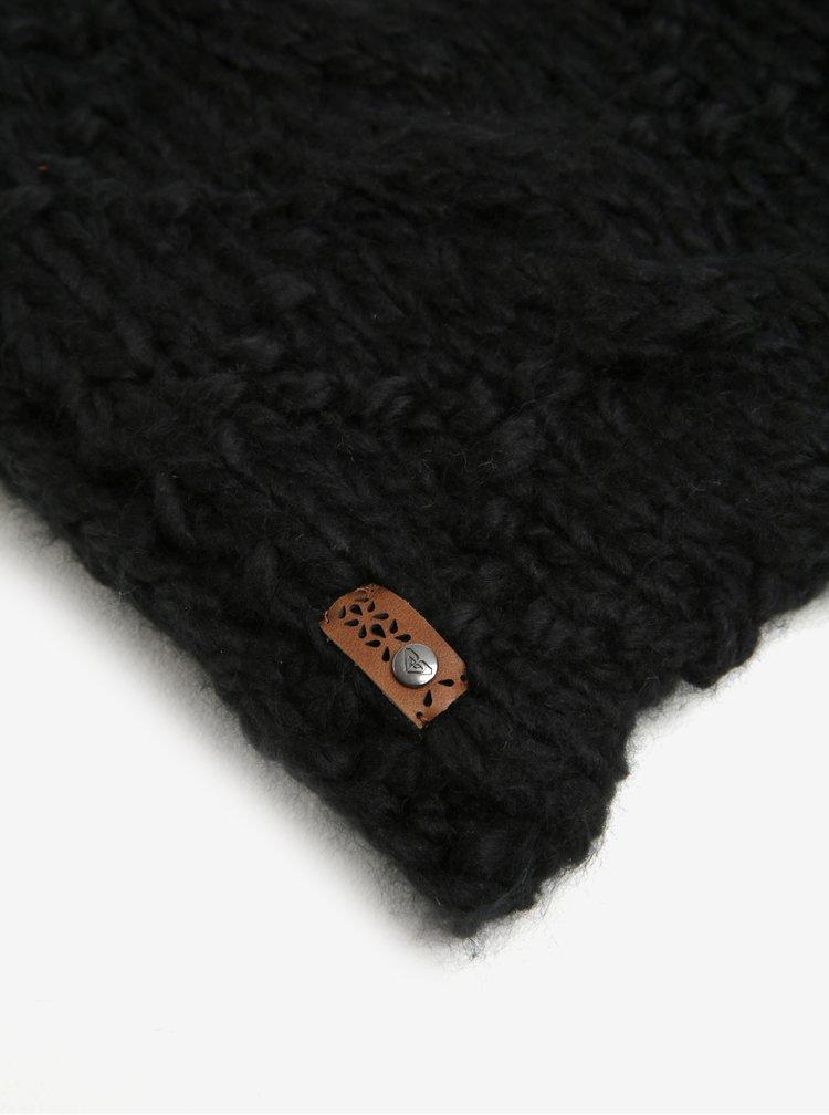Guler tricotat negru petru femei Roxy Winter Collar