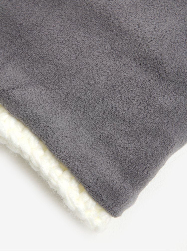 Guler tricotat crem pentru femei Roxy Winter Collar