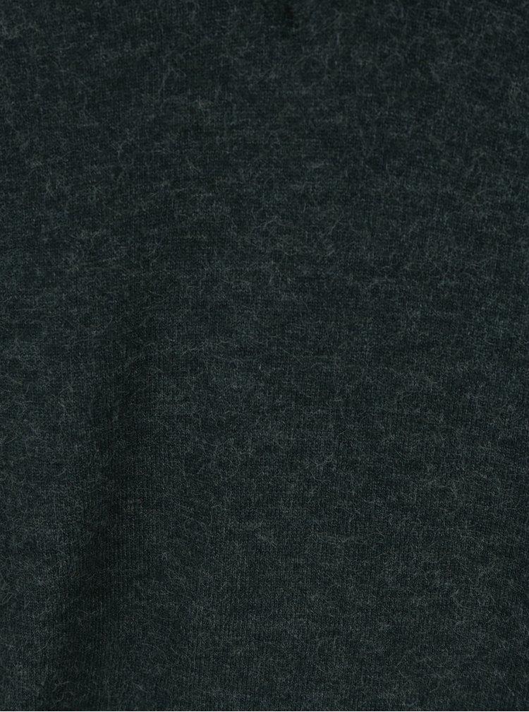 Tmavě zelený svetr s véčkovým výstřihem VERO MODA Calexico