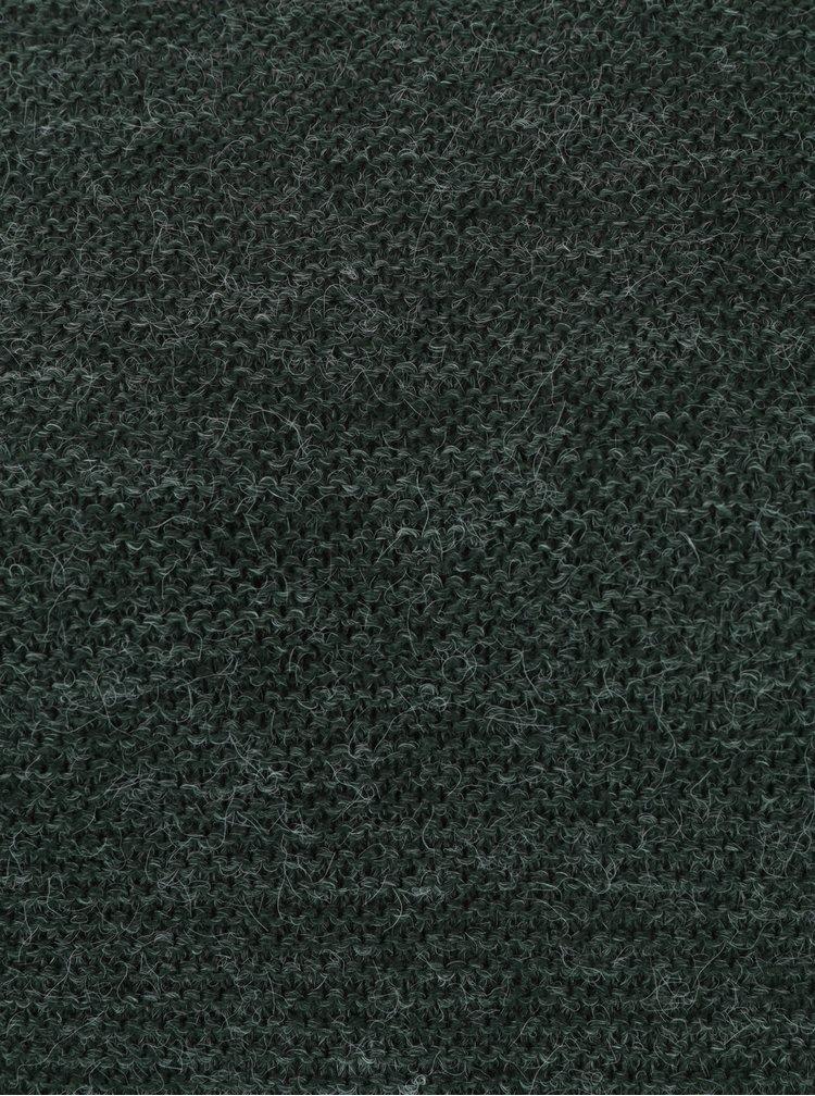 Tmavě zelený žíhaný svetr VERO MODA Zoe
