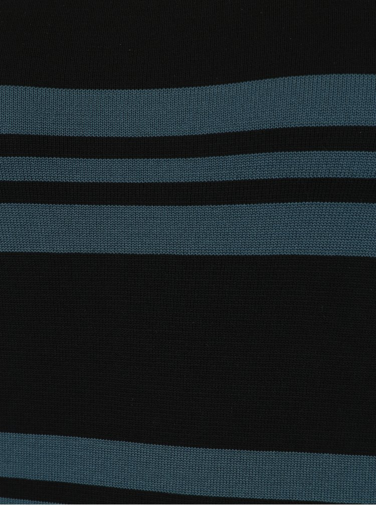 Zeleno-černé pruhované šaty s dlouhým rukávem VERO MODA Sassy