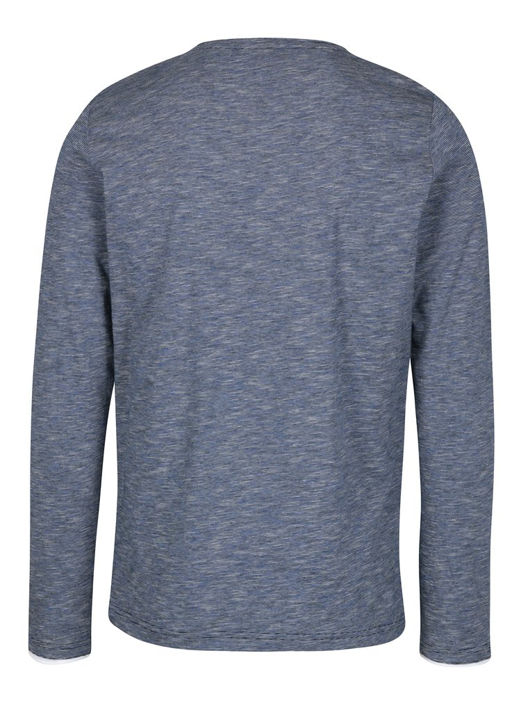 Bluza regular fit albastru&alb cu nasturi pentru barbati  s.Oliver