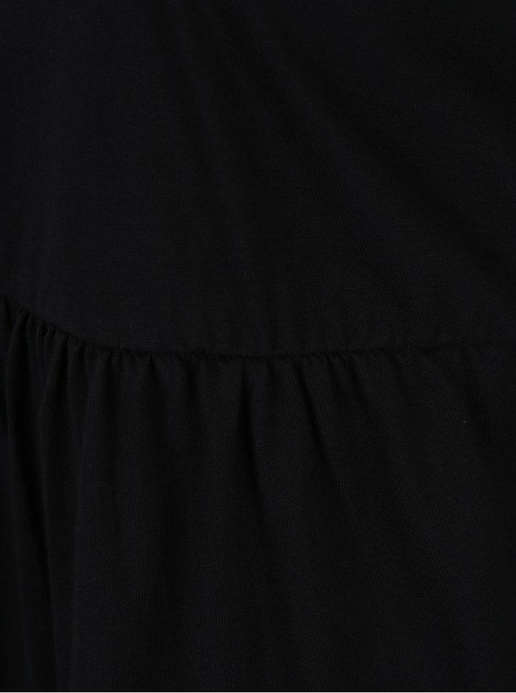 Černá tunika s dlouhým rukávem Ulla Popken