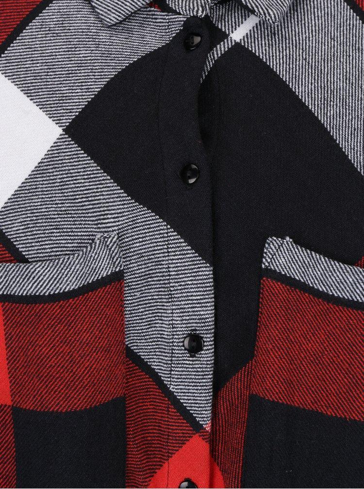 Černo-červené kostkované košilové šaty Noisy May Erik