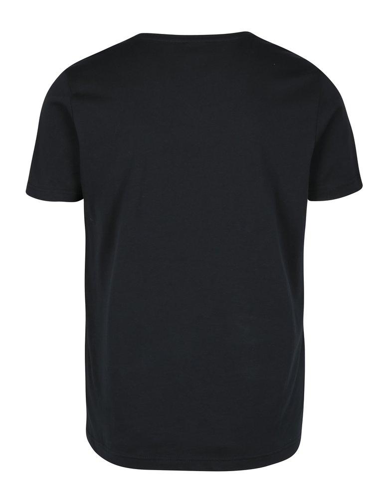 Tmavě modré pánské slim fit tričko s.Oliver