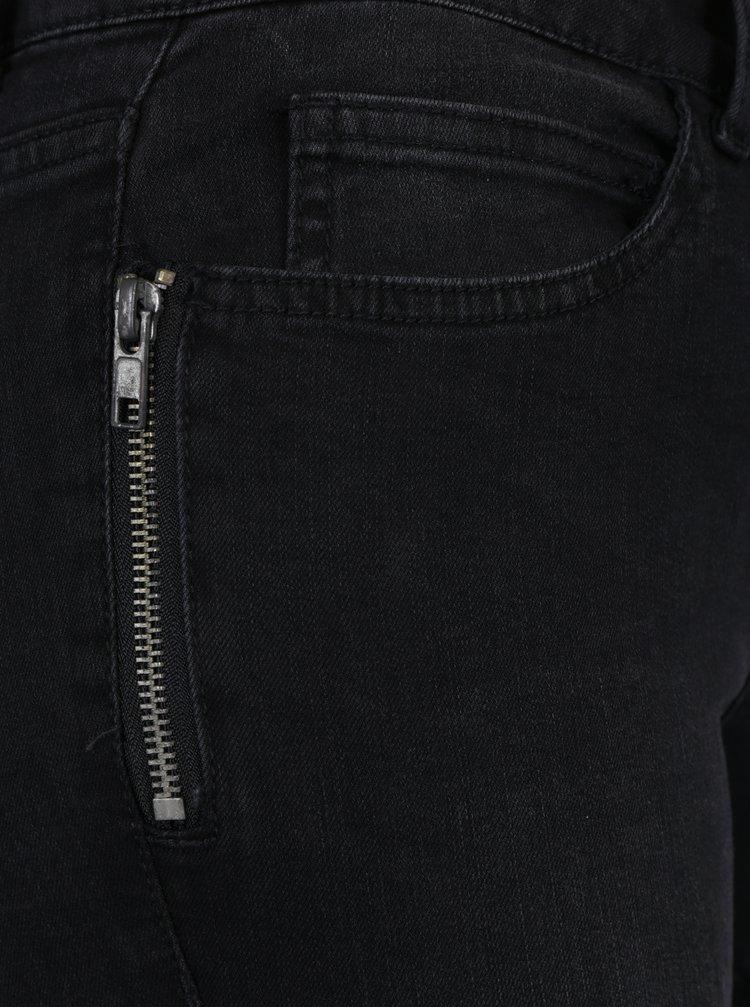 Tmavě šedé slim fit džíny Noisy May Lucy