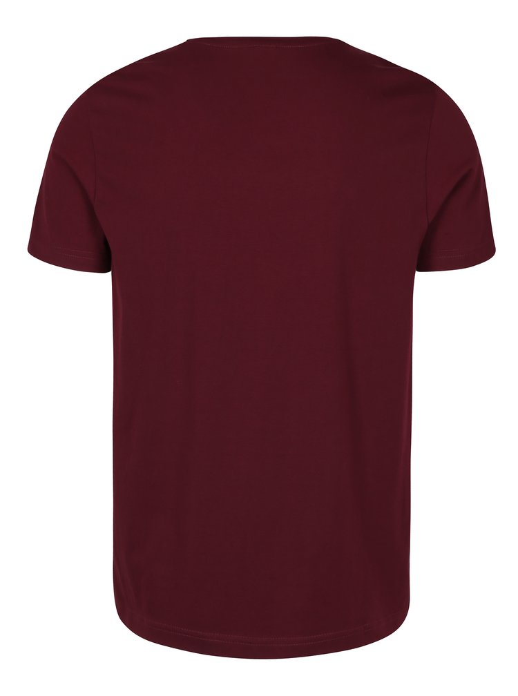 Tricou regular fit bordo&negru cu print logo pentru barbati s.Oliver