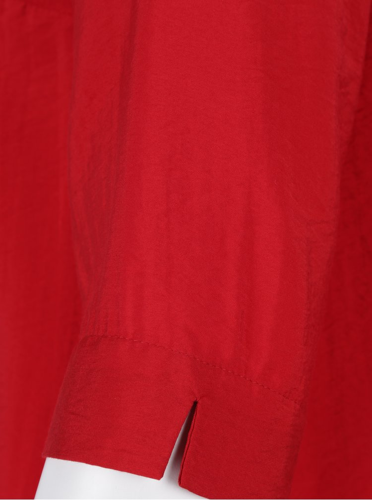 Červená halenka s 3/4 rukávem Ulla Popken