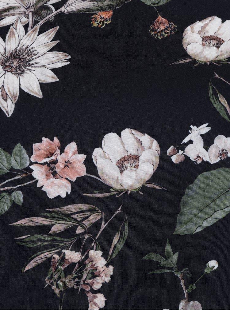 Černá květovaná halenka Ulla Popken