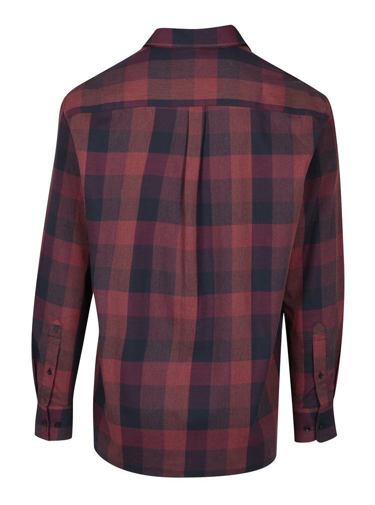 Modro-vínová kostkovaná comfort fit košile JP 1880