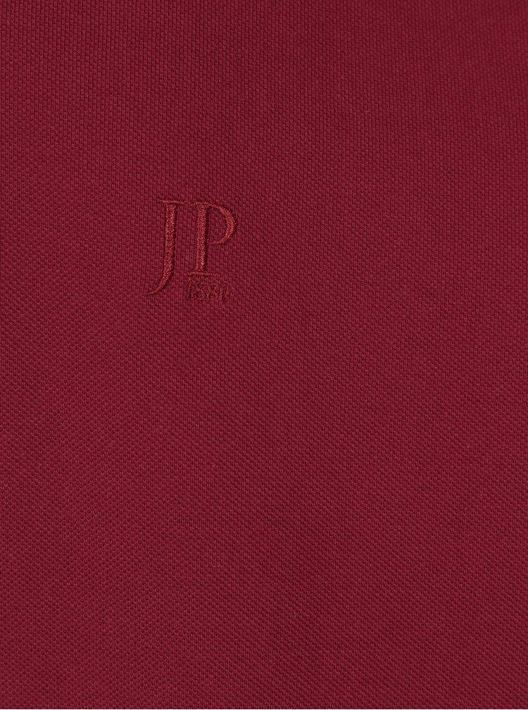 Bluza polo rosie cu logo brodat - JP 1880