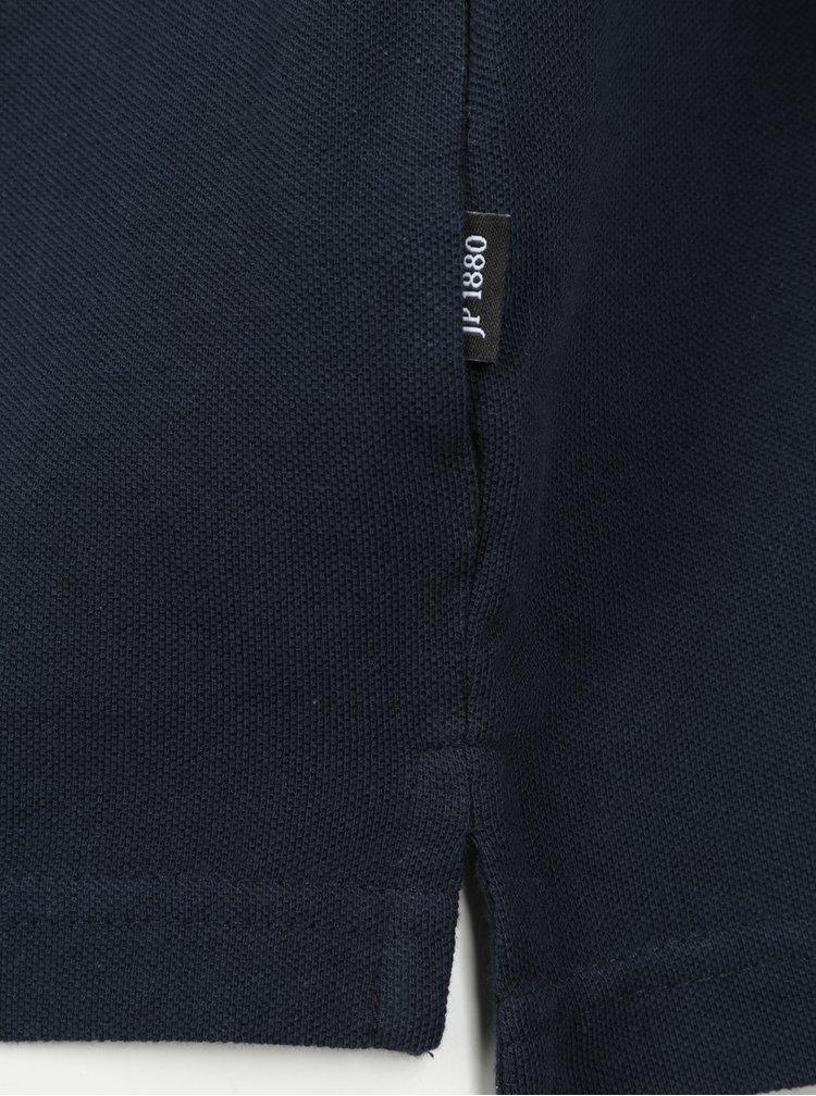 Tmavě modré polo triko s dlouhým rukávem JP 1880