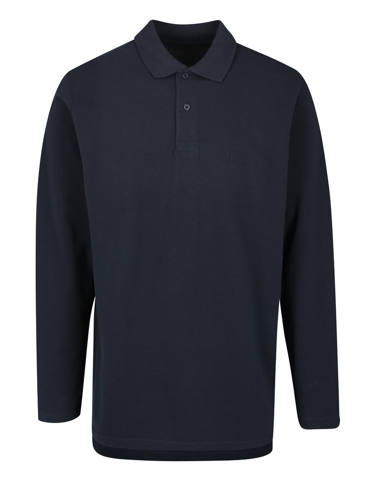 Bluza polo bleumarin cu logo brodat - JP 1880