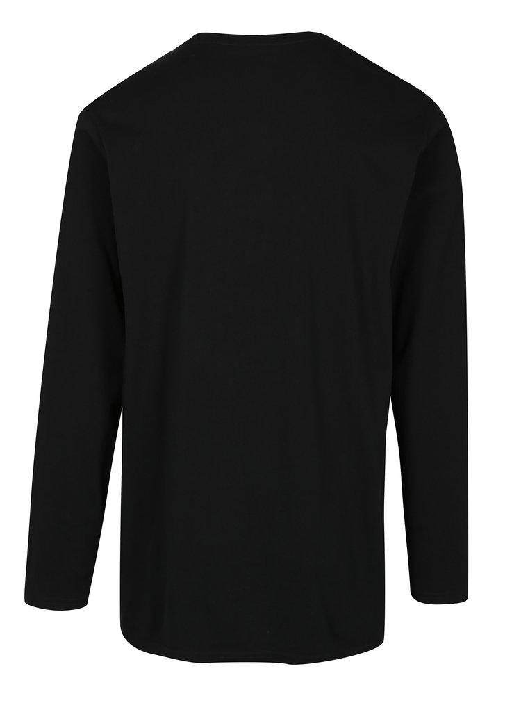 Bluza neagra din bumbac cu logo discret - JP 1880