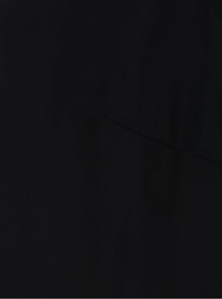 Černá halenka se zdobeným límečkem VERO MODA Silver