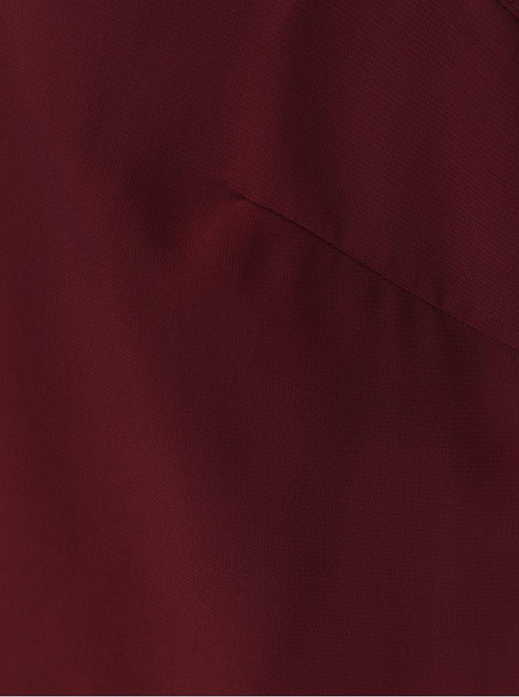 Vínová halenka se zdobeným límečkem VERO MODA Silver