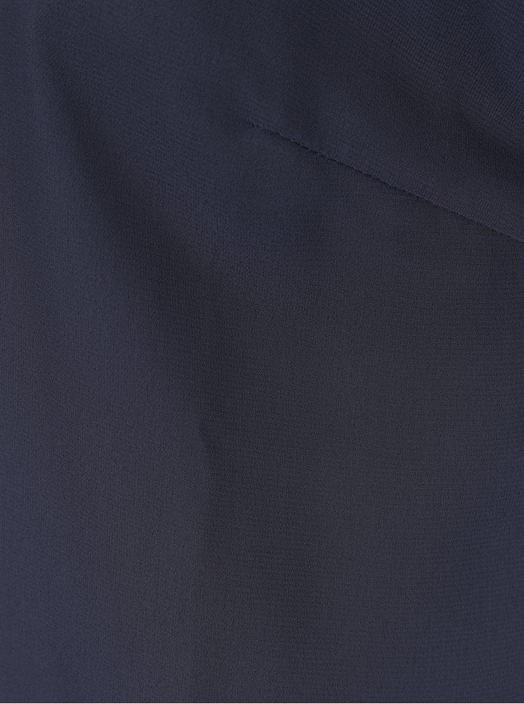 Top albastru inchis din voal cu margele VERO MODA Silver