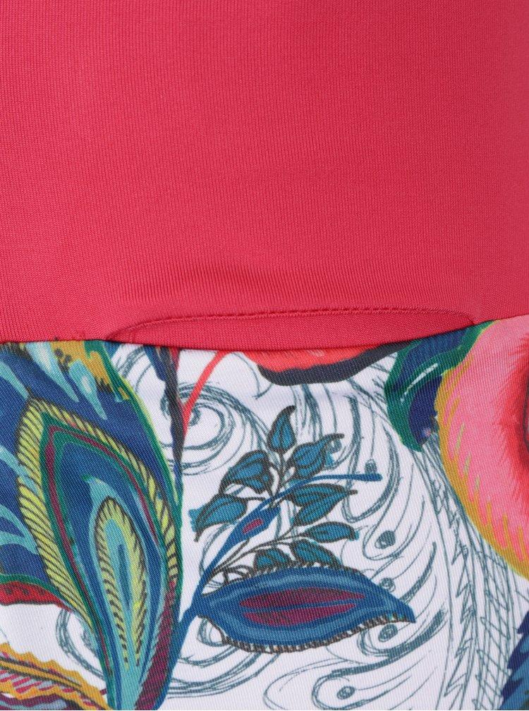 Bílo-červená sportovní minisukně s všitými kraťasy Desigual Sport