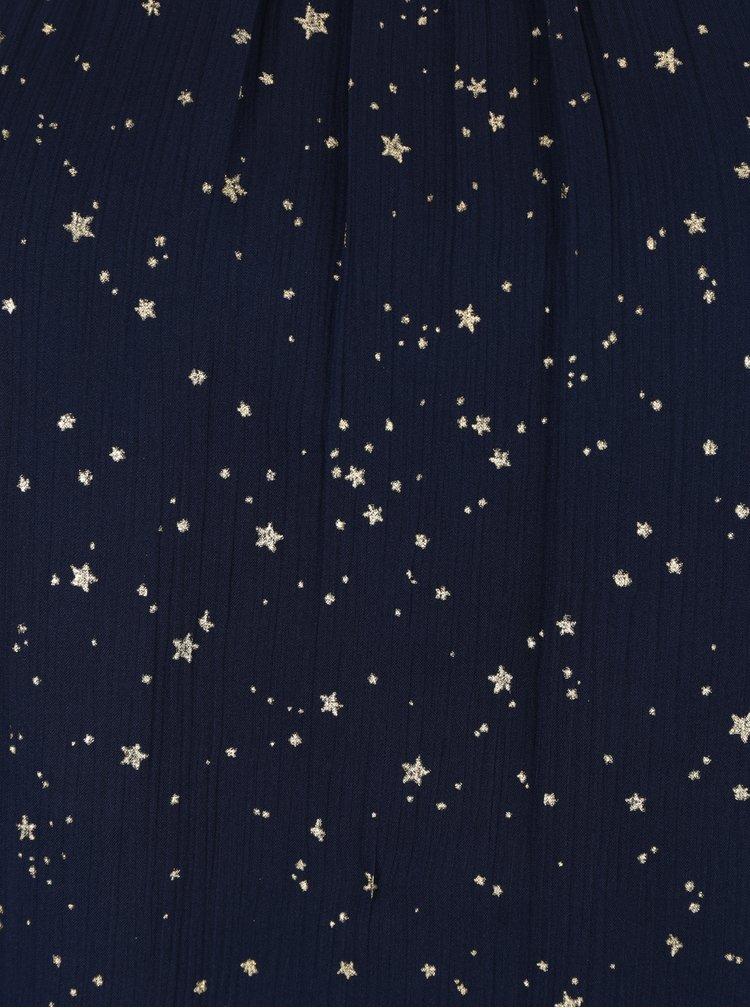 Tmavě modrá halenka s potiskem hvězd VERO MODA Salara
