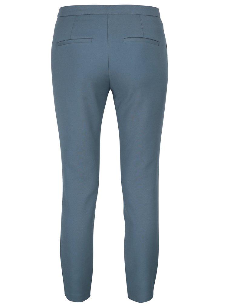 Pantaloni albastru petrol slim fit Selected Femme Muse