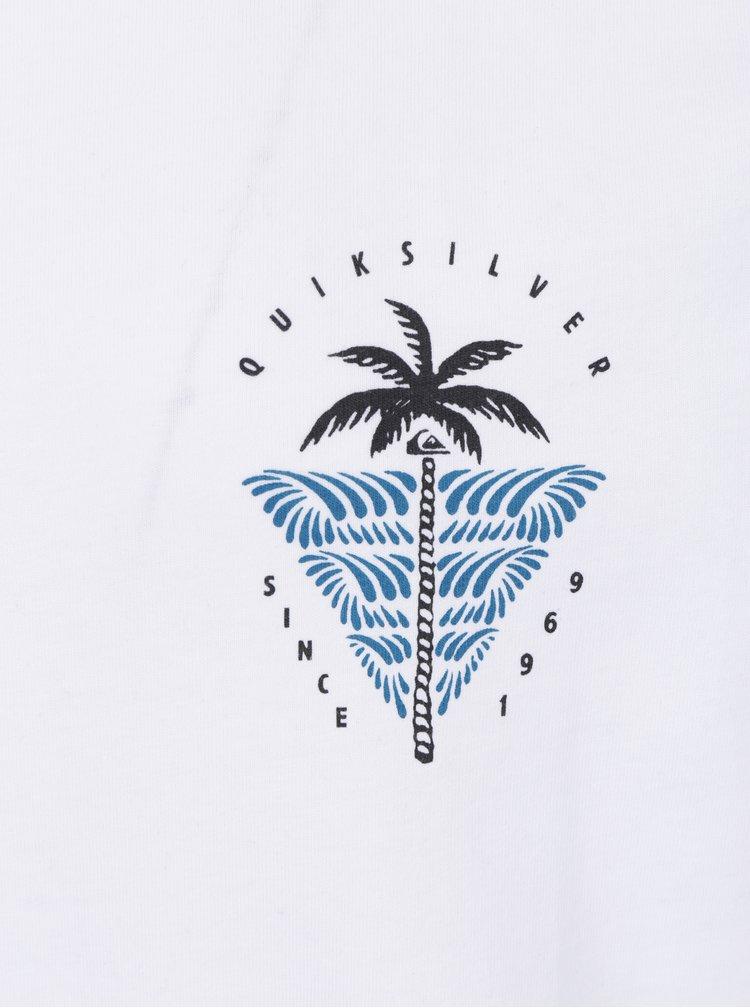 Bílé pánské modern fit tričko s potiskem Quiksilver Sust East Palm Break