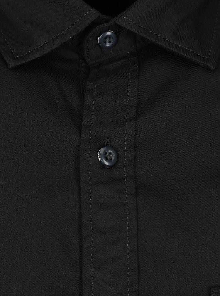 Camasa slim fit neagra pentru barbati  s.Oliver