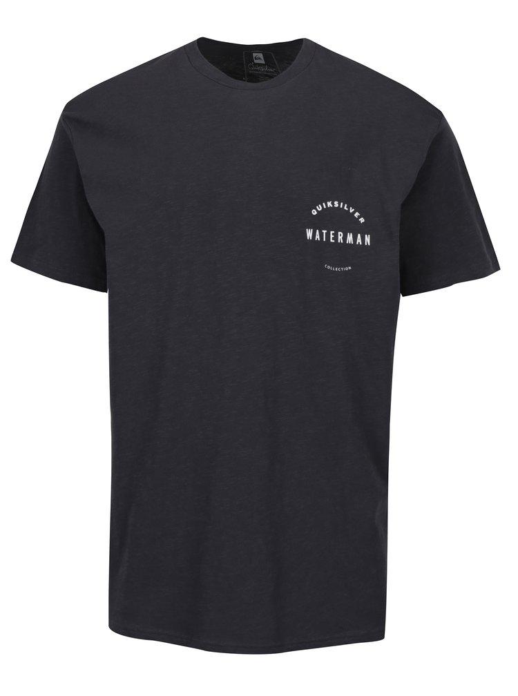 Tmavě šedé pánské tričko s potiskem Quiksilver Water Defined