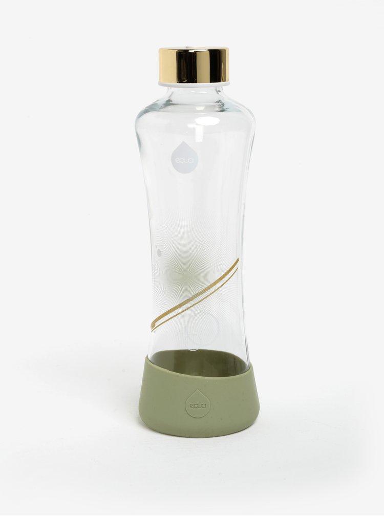 Světle zelená skleněná lahev s potiskem EQUA Metallic (550 ml)