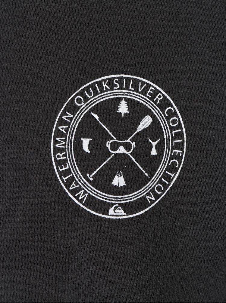 Tmavě šedá pánská mikina s potiskem Quiksilver Popthebell