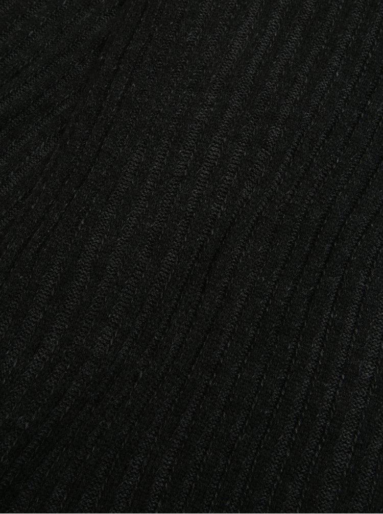 Tmavě šedá dámská žebrovaná dlouhá šála s.Oliver