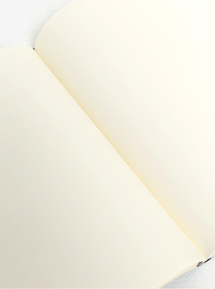 Černý nelinkovaný zápisník v pevné vazbě Moleskine