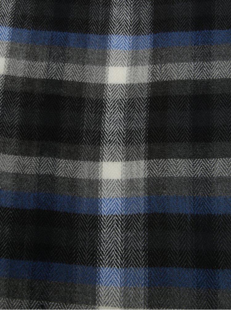 Fular gri&albastru in carouri pentru barbati s.Oliver