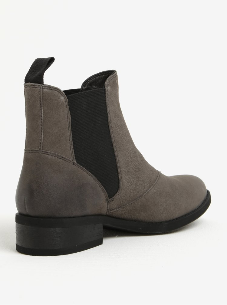 Šedé dámské kožené chelsea boty Vagabond Cary